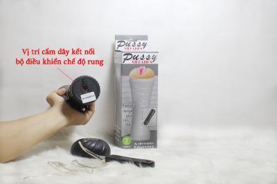 Âm đạo giả cầm tay đèn pin cao cấp rung 7 chế độ Pussy| Đồ chơi tình dục nam